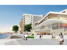 Nya mötesplatsen med hotell, kongress och bostäder med kajpromenad