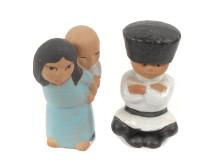 """Dekorativa auktionen, 17/2, nr 61, figuriner """"All världens barn"""", Lisa Larson."""
