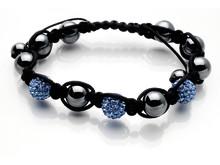 Dråpe discoballs armbånd lys blå