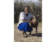 Mary Njeri har fått en get av ActionAid