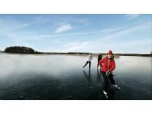 Långfärdsskridsko på sjön Runn