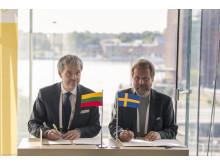 Sweden and Lithuania sign Memorandum of Understanding