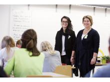 Västervångskolan lärare fr v: Sabina Nuhanovic och Sabine Boije