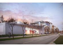 Skiss nya lokaler för polisutbildning i Flemingsberg