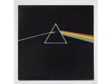 Plateomslag. Vinylens comeback.The Dark Side of the Moon, 1973 av Pink Floyd. Design: Hipgnosis
