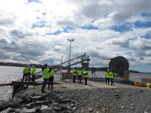 Automatisk oljelänsa invigs i Göteborgs Hamn