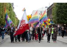 Prideparad i Helsingborg, fotograf Caroline Stephensen