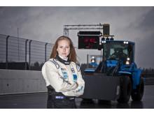Karin Olsson - pilot på Volvo L60G PCP (Performance Concept Prototype)