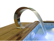 Vattenfall - Vattenfall i metall till poolen