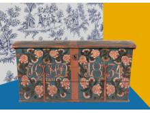 Skiss på miljö i kommande utställningen Rejält retro på Nordiska museet, montage: Karolina Kristensson, foto: Peter Segemark, Nordiska museet