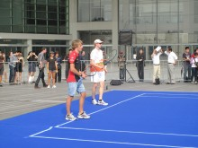 Charles Pic and Nico Hulkenberg at the ATP promo