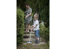 Hagearbeid sammen med barna