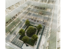 Danderyds sjukhus - ny akutvårdsbyggnad - Ljusgård 1