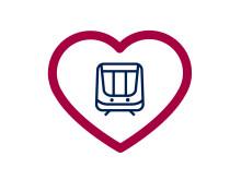 Symbolen för MTR:s kundservicemånad