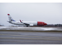 Norwegian's first Finnish hero, Johan L Runeberg at Helsinki Airport 27 march 2012. DY-NIA