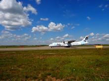 Flyben kone lähdössä Helsinki-Vantaalta