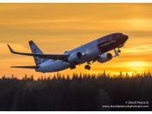 Norwegian's 737-800 Sunset