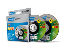 Nye skære- og skrubskiver til batteridrevet vinkelsliber Forpakning
