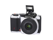 Pentax K-01 silver flash opened
