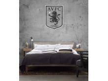 Aston Villa FC - Black and White Crest on Concrete