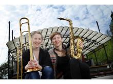 Lisa Bodelius och Anna Högberg, KMH-studenter på New Sound Made 2011