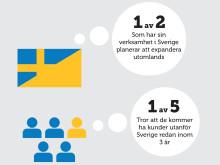1 av 2 som har sin verksamhet i Sverige planerar att expandera utomlands