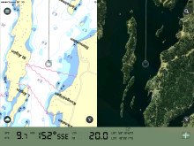 Eniro-app På Sjön för sjökort tvådelat