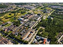 Flygbild Campus Luleå