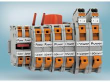 Enkel anslutning av kraftkabel genom fjäderkraftanslutning