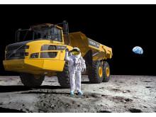 Astronaut och dumper i rymden
