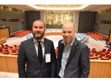 Lærere fra Mailand på Lørenskog på studietur til FN i New York.