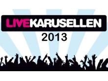 Riksomfattande affisch för Studiefrämjandets musiktävling LiveKarusellen