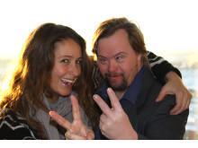 Programledare för Väsby Melodifestival 2013, Doreen Månsson och Tommy Fagerberg