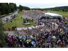 Starten av CykelVasan 2012 i Sälen 11 augusti 2012