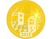 Medaljbild Nordbyggs guldmedalj för årets hetaste materialnyhet