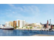 Nya hotell- och kongressanläggningen samt bostäder på Ångfärjetomten