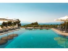 Havutsikt på boutique-hotellet Louloudis Fresh på Thassos