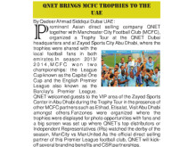 QNET Brings MCFC Trophies to the UAE
