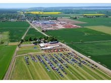 Flygfoto över Väderstad-Verken 27 maj 2012