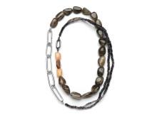 Halssmycke i silver, månsten och labradorit av Åsa Lockner