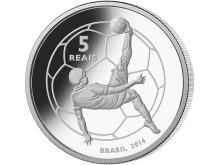 VM 2014 - minnesmynt i silver