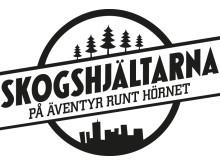 """Logotyp för projektet """"Skogshjältarna - på äventyr runt hörnet"""""""
