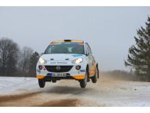 Emil Bergkvist och Joakim Sjöberg i Opel ADAM R2