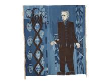 Jul Kvale, 1956, billedvev i ull og silke,  av Hannah Ryggen