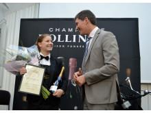 Sofia Castensson tillsammans med Bollingers exportchef Karl-Frédéric Reuter