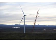 Sjisjka vindpark som byggdes i väglöst land