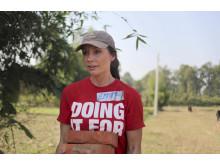 Emma Zetterberg i Nepal med ActionAid