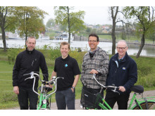 Pressbild - Invigning av cykeluthyrning Göta kanal, Bergs slussar 10 maj 2014