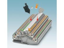 Multifunktionell frånskiljarplint för mät-, styr- och reglerapplikationer