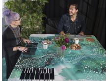 Spelande bordsduk - Smart Textiles
